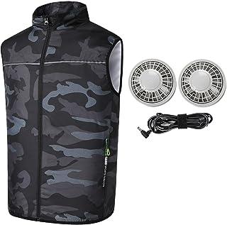 SURIDAI 空調服 空調ベスト 空調作業服 釣り服 3段階 登山 オーバーサイズ エアークラフトベスト空調服 ベストワークマン フード大きいサイズサイズ