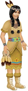 Beistle 1-Pack Decorative Indian Princess Jointed Figure, 3-Feet 2-Inch