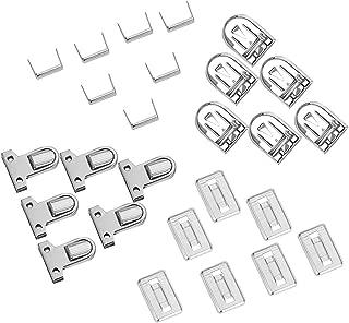 PandaHall Elite 10 Sets Iron Tuck Lock Clasp Catch Purse Thumb Lock 35x25x11mm for Leather Bag Case Clasp Hangbag Purse Platinum
