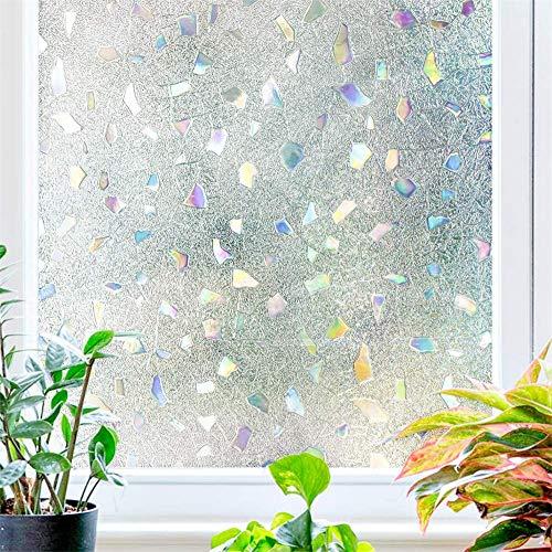 ZMXZMQ 3D statische decoratieve raamfolies voor glas, niet-klevende privacyfolies, verwijderbare raamvintfolie, voor thuiskeukenkantoor Slaapkamer Woonkamer
