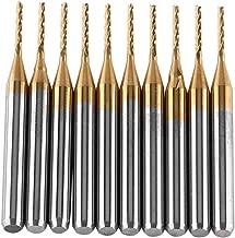10pcs carburo di tungsteno frantoio titanio cappotto fresa punte per incisione rotative sbavature set 3.175mmx1mm