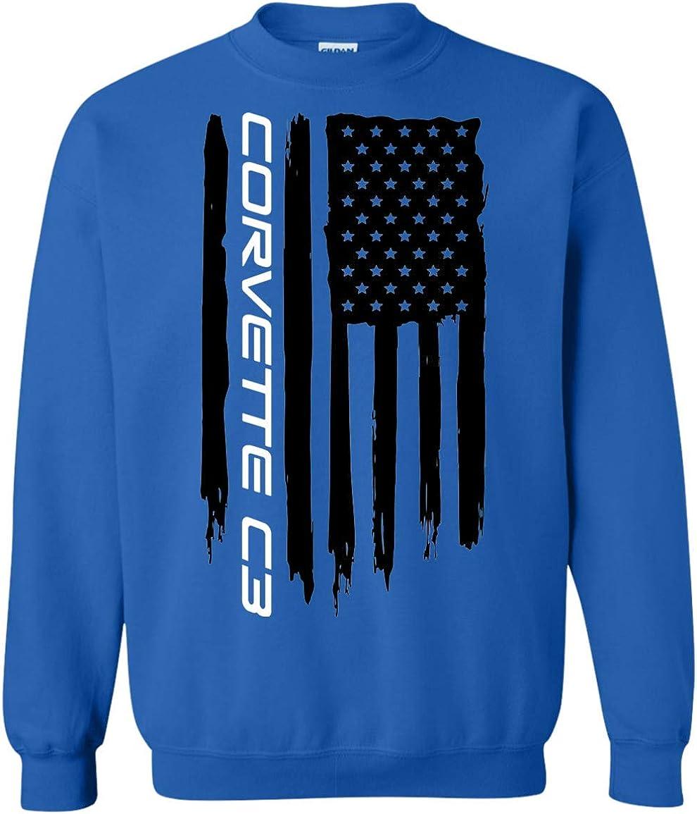 Corvette C3 American Flag Crewneck Price Tucson Mall reduction Sweatshirt