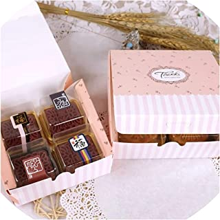 20Pcs/Lot 12X12X5/18.3X12X4.5/17X11X5Cm Pink Lace Gift Boxes Mooncake Packaging for Decorative Package Present Cardpaper Box,Olive,12X12X5Cm