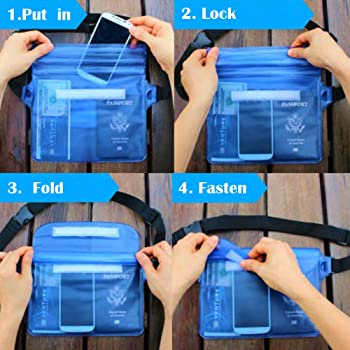 Tonando Waterproof Bags with Waist Shoulder Strap Best Dry Pouch Case to Keep Phone and Valuables Dry and Safe Perfec...