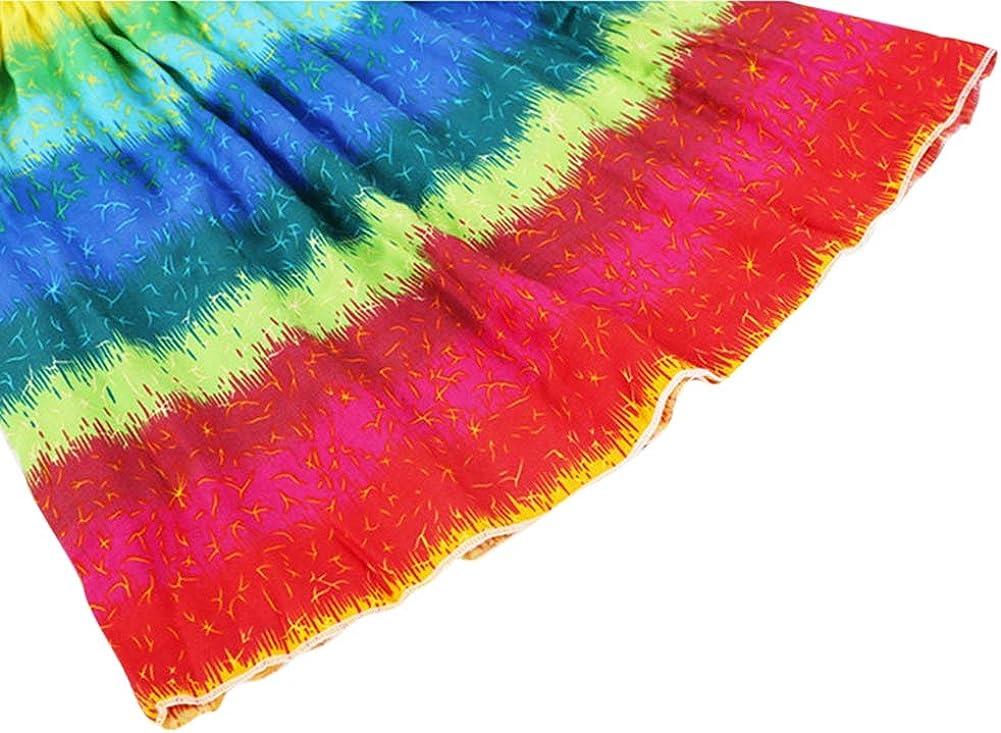 Necklace Summer Halter Dress 2-10 Years LovelyBaby Kids Teen Girl Bohemian Dresses Floral Sleeveless Rainbow Beach Sundress