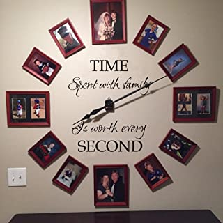 Time spent with family is worth every second wall decal family wall decal Time wall decal picture frame decal (34x29