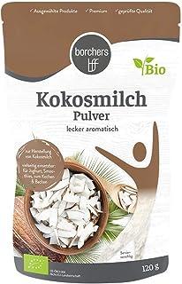 borchers Bio Kokosmilchpulver, zum Kochen von Kokosmilch, Laktosefrei, Ohne Zuckerzusatz, 120 g