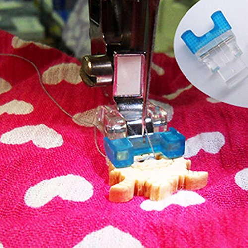 YEQIN Button Sewing Machine Presser Foot - Fits All Low Shank Snap-On Singer, Brother, Babylock,New Home, Janome, Kenmore, Euro-Pro, White, Juki, Simplicity, Elna