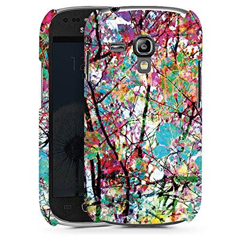 DeinDesign Premium Case kompatibel mit Samsung Galaxy S3 Mini Smartphone Handyhülle Hülle glänzend Malerei Blätter Kunst