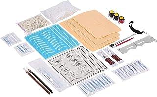 EVTSCAN Tattoo Microblading Wenkbrauwblad Naald Pen Pigment Ring Huid Training Praktijk Tool Kit