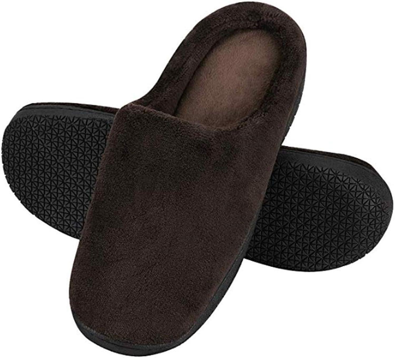 XTMA Herren- und Damen-Memory-Baumwolle-Hausschuhe Verbinden Bequeme Schuhe für Den Innen- und Auenbereich Flache Schuhe Rutschfeste Sohlen, braun, EU 38 39