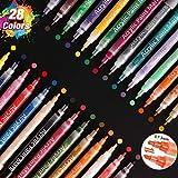 SAWAKE Pintura Acrílica 28 Colores, Rotuladores...