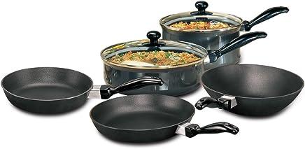 Hawkins Futura Non-Stick Cookware, 7-Pieces, Black