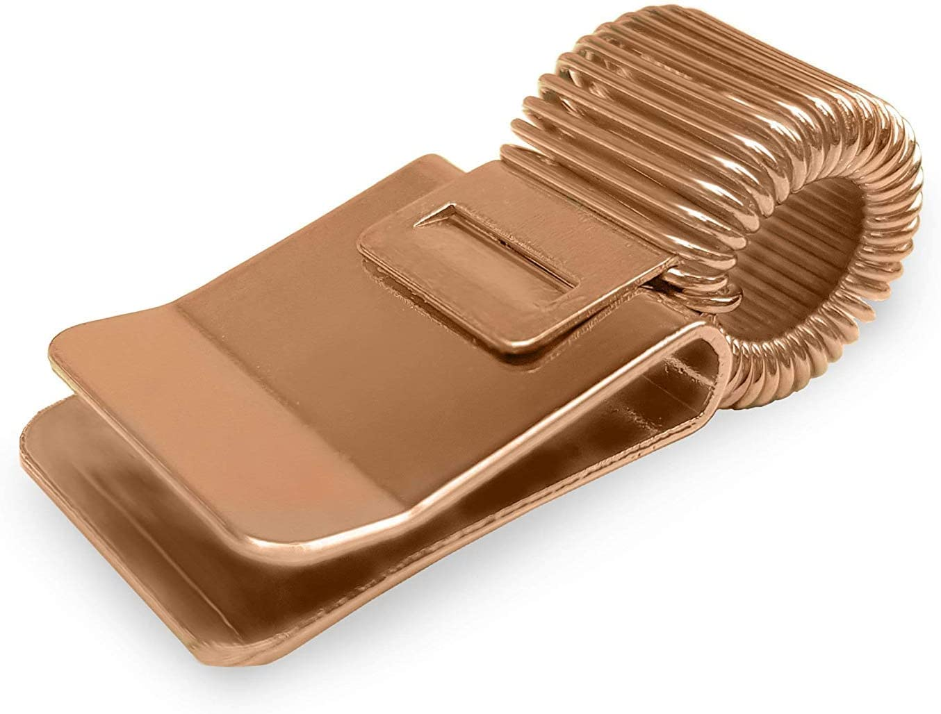 Metal Pen Clip Holder for Notebook/Clipboard/Journal/Diary - Ideal For Doctors/Nurses/Foremans/Office - Single - Rose Gold