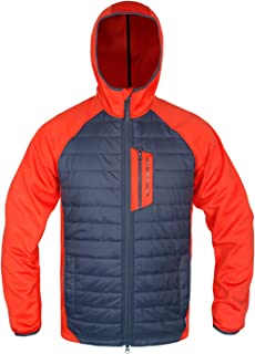 Men's Hybrid Jacket Quilted Lightweight Hooded Insulated Thermal Weatherproof Outwear Warm Jacket