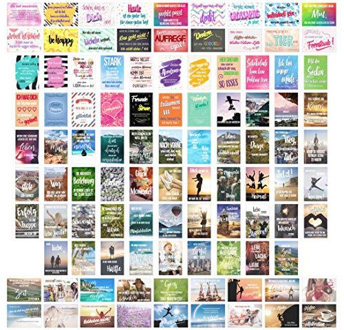 Edition Seidel Set 100 Postkarten Leben & Momente mit Sprüchen - Karten mit Spruch - Geschenk - Dekoidee, Liebe, Freundschaft, Leben, Motivation, Glück, Erfolg Geburtstagskarten, Postcrossing