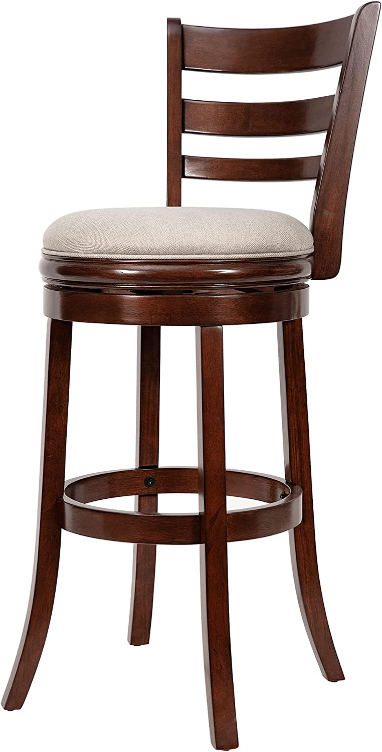Ball & Cast Swivel Counter Height Barstool 9 Inch Seat Height Cappuccino  Set of 9