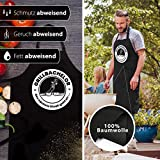 ELANI ® Grillschürze Abverkauf | GRILLBACHELOR | Grillschürze für Männer | inklusive nachhaltigem Geschenk Baumwollbeutel | Geschenk für Männer | Grillen ohne Plastik - 6