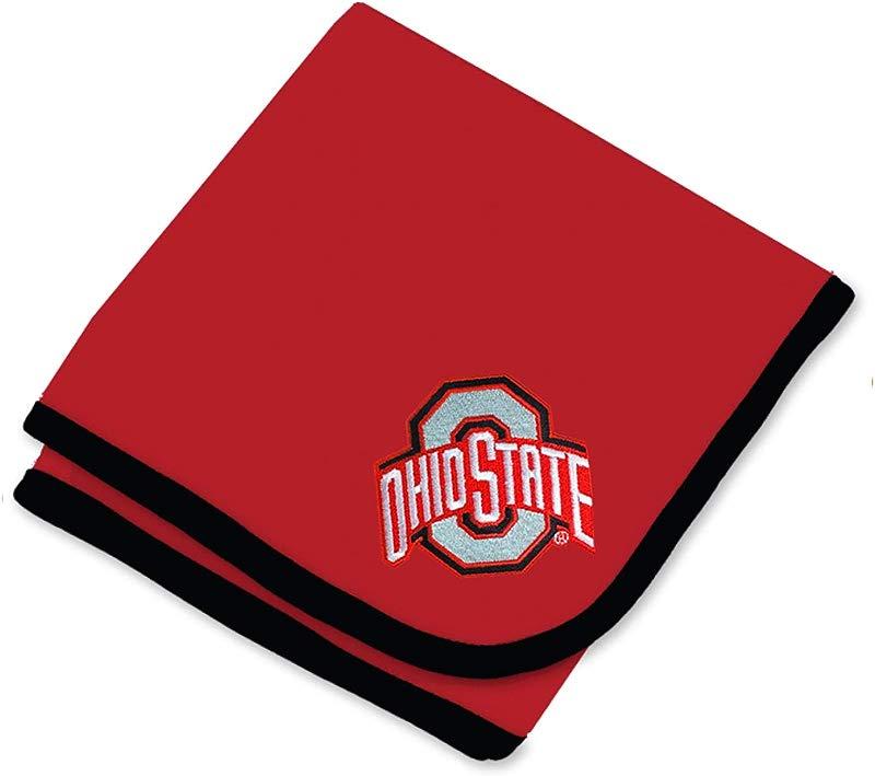 Ohio State Buckeyes NCAA Baby Newborn Infant One Size 30 X 35 Baby Blanket Red