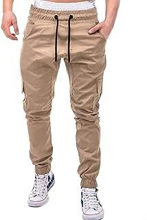 Drawstring Pant Fashion Men's Sport Pure Color Bandage Casual Loose Sweatpants