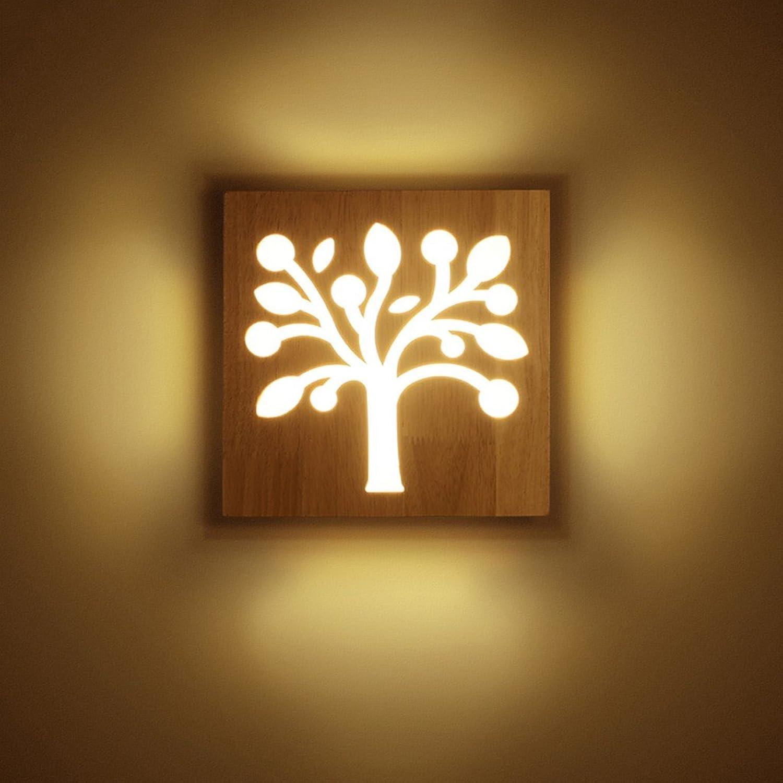 Kreative Massivholz-Wandleuchte Moderne, einfache Wohnzimmer-Gang-Dekoration-Licht führte hlzerne Kunst-Schlafzimmer-Nachttischlampen