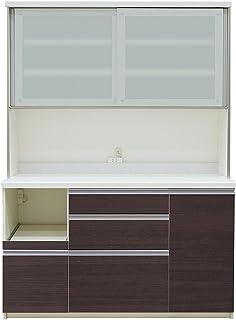 パモウナ 食器棚LF カカオチェリー 幅140×高さ198×奥行50 日本製 LF-1400R