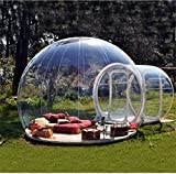 Wly&Home Extérieur Tunnel Backyard Tente Transparente Air Dôme, Simple Gonflable...