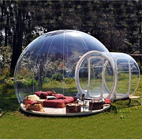 Outdoor-Tunnel Hinterhof Durchsichtige Luft Kuppelzelt, Single Aufblasbare Bubble Zelthaus Home Camping mit Gebläsen und Reparatur Ausrüstung,C