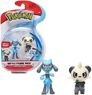 Pokémon Battle Figure Pack Pancham And Riolu, Multi Color, 95007