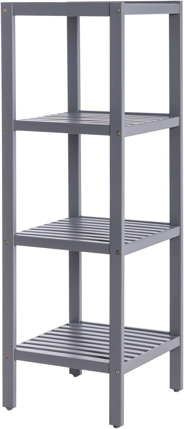 SONGMICS 100% Bamboo Bathroom Sale Max 70% OFF special price Shelf Stand Rack Multifunct 4-Tier