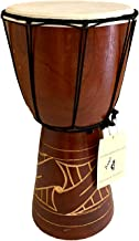 "JIVE Djembe Drum Bongo Congo African Drum Wooden Hand Drum Professional Sound (12"" High - Carved)"