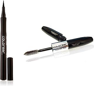 Colorbar Ultimate Eye Liner, Black, 1ml & Duo Mascara, Carbon Black, 4ml Combo