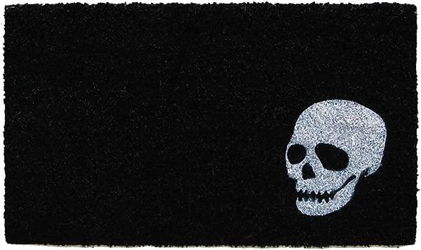 Calloway Mills 153601729 Skull Doormat 17 X 29 Black White