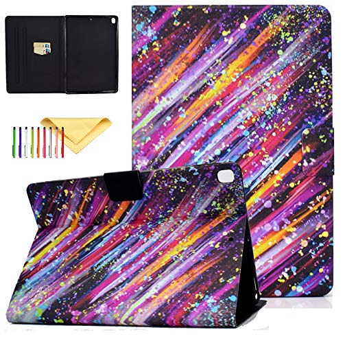 Uliking Apple iPad 10.2 inch Case for iPad 8th Generation 2020 / iPad 7th Generation 2019, iPad 7 7th Gen iPad 8 8th gen Case, Ultra Slim PU Leather Folio Stand Smart Cases and Covers, Rainbow Star