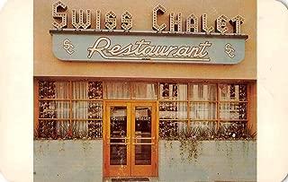 Colorado Springs Colorado The Swiss Chalet Restaurant Vintage Postcard J78870