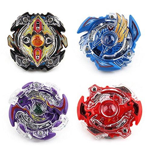 ML Pack 3 peonzas Estilo Bey Burst Blade con 3 lanzadores de Mano peonza Juguete con Lanzador de Mano Espada Estilo Bey