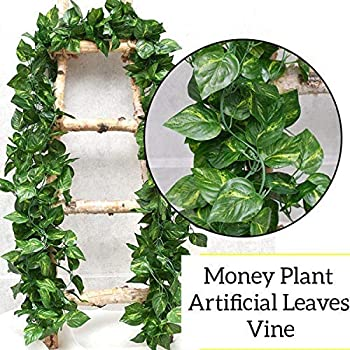 Sk Handloom Udyog SkH Artificial Ivy Garlands Leaves Greenery Hanging Vine Creeper Plants Bunch for Home Decor (Each 6.7 ft) 6 Pieces