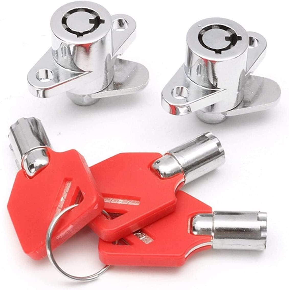 JINJUANYAO 1 Set Red 3 Keys Fit Hard All stores are sold Saddlebag We OFFer at cheap prices Motorcycle Locks