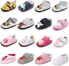 PanGa Baby Boys Girls Non-Slip Soft Rubber Sole Pu Leather Cartoon Sneakers Toddler Infant Slippers First Walkers Crib Shoes