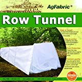 "Row Tunnel with Fleece Cover for Plants Guard Seed Germination & Frost Protection Cover,Plant Cover &Frost Blanket for Season Extension, Large,10ft Long, 25""Widex20""high"