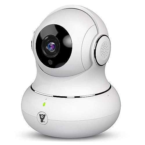 Littlelf Cámara IP de Seguridad, 1080P HD Cámara de Vigilancia Panorámica 3D Pan/Tilt/Zoom WiFi Inalámbrica con Detección de Movimiento, Visión Nocturna, Audio Bidireccional