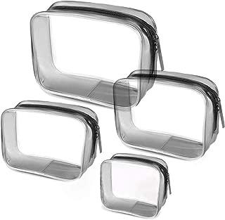 4-in-1 Bolsa de Aseo Transparente, Bolsa de Maquillaje Cosm