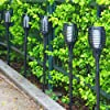 6-Pack Solar Torch Lights with Flickering Flames for Christmas Decorations Outdoors Garden Path Light Solar-powered Wireless Pathway Lights, Waterproof Landscape Lighting for Yard, Patio, Lawn, Porch Garden Pathway