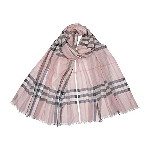 1f93915ce801 Burberry Lightweight Check Wool and Silk Scarf - Ash Rose