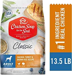 Chicken Soup for the Soul Adult Dog Food- Chicken, Turkey & Brown Rice Recipe, Dry Dog Food