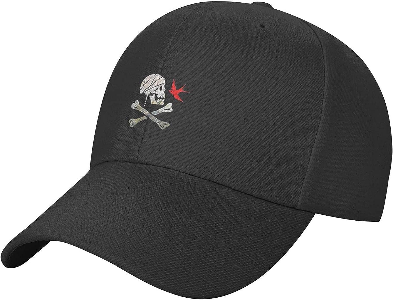 Buccaneers Skull Pirate Hat Baseball Cap, Adjustable Trucker Hat Black Dad Hat Polo for Adults Men Women Outdoor
