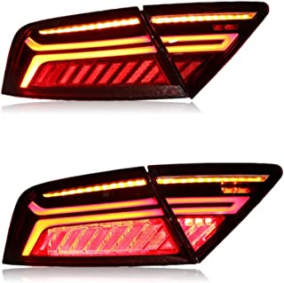 New LED Taillights Assembly For Audi A7 2012-2018 LED Rear Lamp Brake Reverse Light Rear Back Up Lamp DRL Car Tail lights,1 Years Warranty,1 Pair