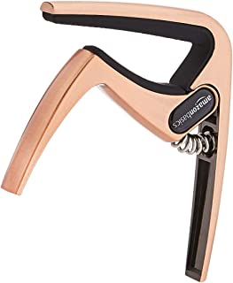Amazon Basics Zinc Alloy Guitar Capo for Acoustic and Electric Guitar, Copper, 2-Pack