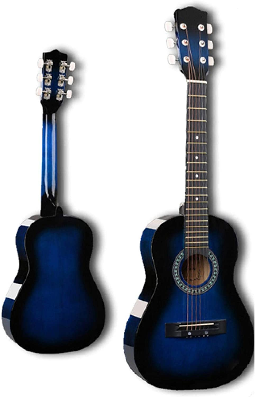 KEPOHK Guitarra popular de 30 pulgadas, Guitarra acústica, 6 cuerdas,madera de tilosuperiorpara niños, principiante, regalo de selecciones, 30 pulgadas, azul marino