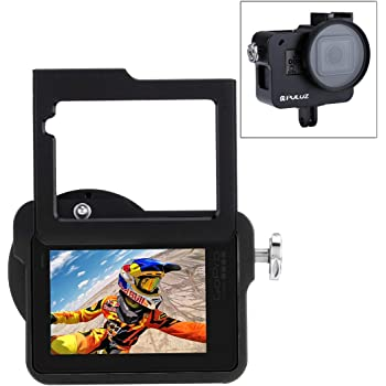 Housing Shell CNC Aluminum Alloy Protective Cage with Insurance Frame /& UV Lens /& Lens Cap for GoPro HERO4 Durable Color : Black
